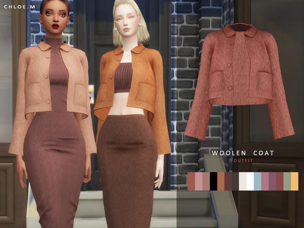 Sims 4 Woolen Coat 03 by ChloeM at TSR