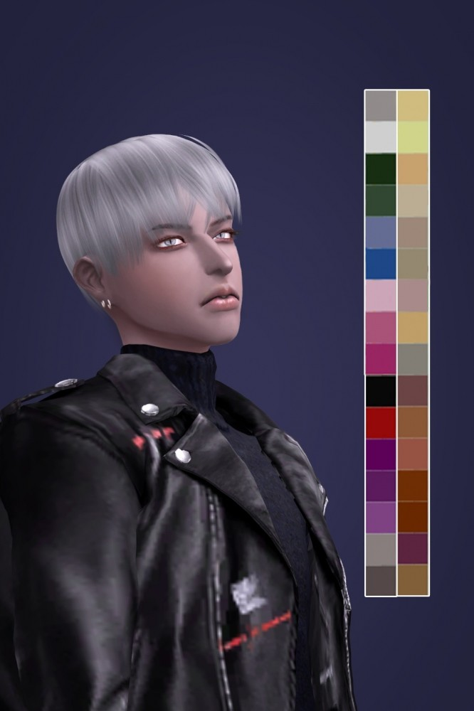 Sims 4 STAINLESS STEEL HAIR at SNOOPY