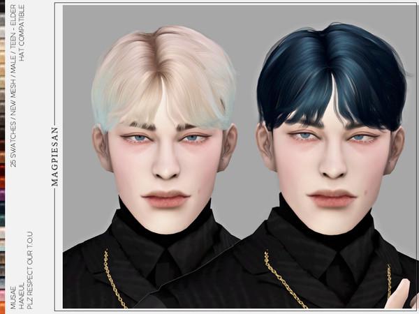 Sims 4 Haneul Hair by magpiesan at TSR