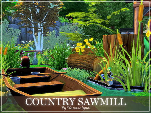 Sims 4 Country Sawmill by Xandralynn at TSR