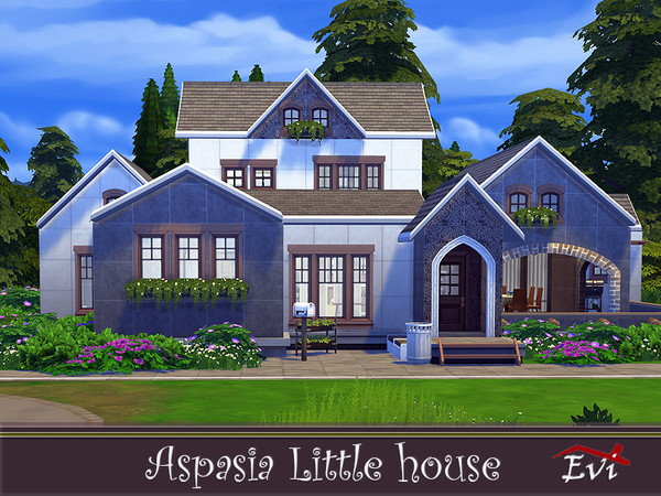 Sims 4 Aspasia Little House by evi at TSR
