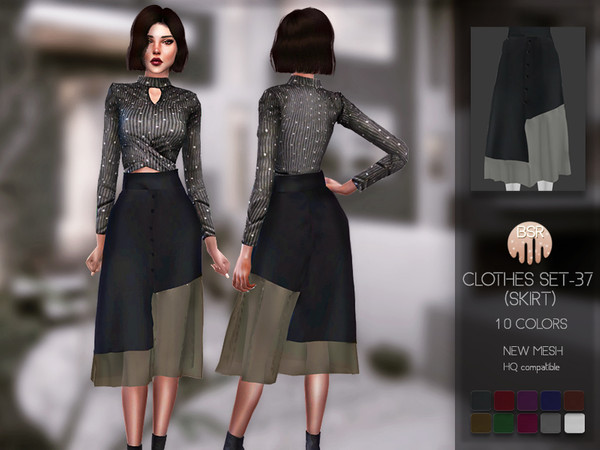 Sims 4 Clothes SET 37 (SKIRT) BD148 by busra tr at TSR