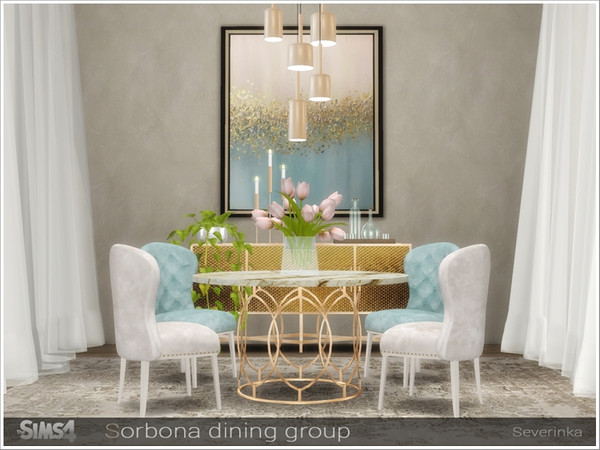 Sorbona dining group by Severinka at TSR image 466 Sims 4 Updates