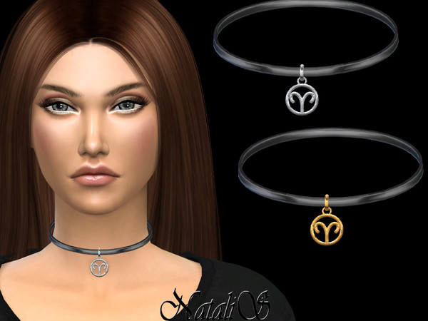 Aries pendant choker by NataliS at TSR image 468 Sims 4 Updates