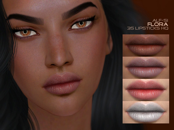 Flora Lipstick 05 HQ by Alf si at TSR image 472 Sims 4 Updates