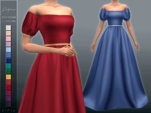 Delphine Gown by Sifix at TSR image 475 Sims 4 Updates