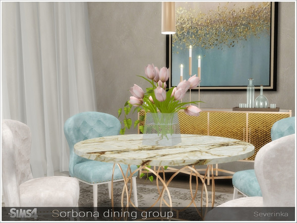 Sorbona dining group by Severinka at TSR image 477 Sims 4 Updates