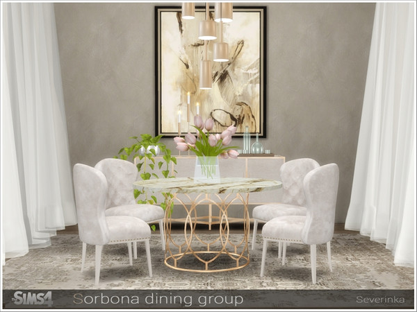 Sorbona dining group by Severinka at TSR image 487 Sims 4 Updates