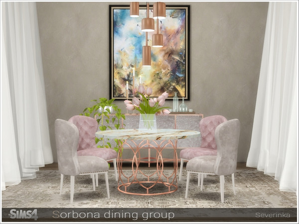 Sorbona dining group by Severinka at TSR image 497 Sims 4 Updates