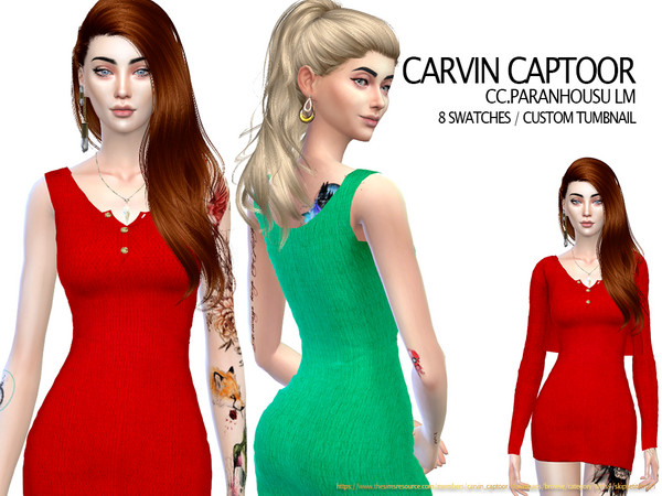 Sims 4 Paranhousu LM dress by carvin captoor at TSR