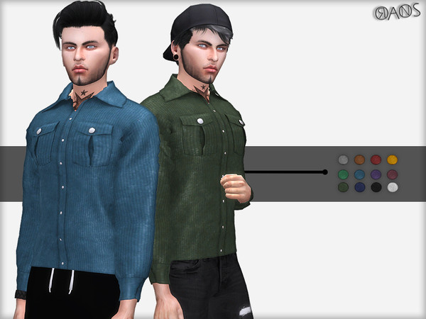 Corded Velvet Shirt by OranosTR at TSR image 5013 Sims 4 Updates