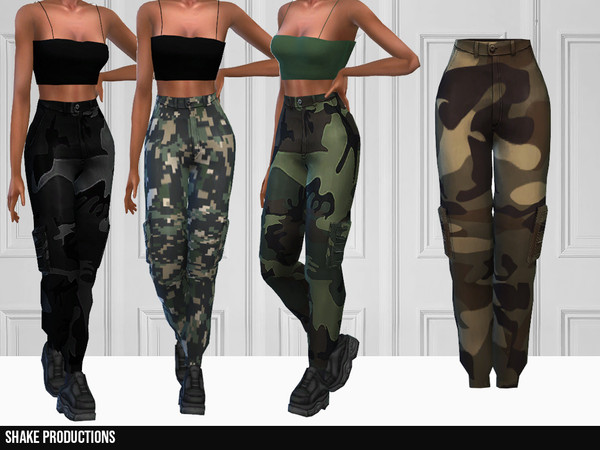 Sims 4 336 Cargo Pants by ShakeProductions at TSR