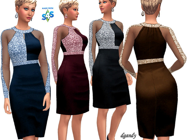 Sims 4 Dress 20191018 by dgandy at TSR