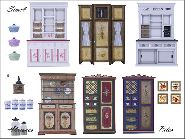 Cupboards and decorative items by Pilar at TSR image 5117 Sims 4 Updates