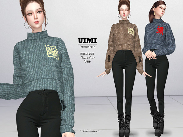 Sims 4 UIMI Sweater by Helsoseira at TSR