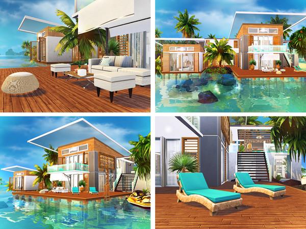 Sims 4 Neelima contemporary house by Rirann at TSR