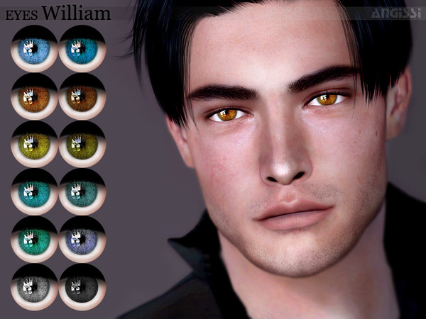 Sims 4 William eyes by ANGISSI at TSR
