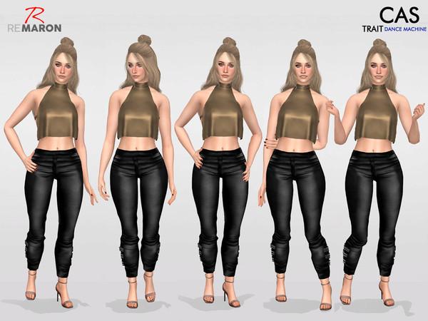 Sims 4 CAS Pose DANCE MACHINE TRAIT Set 2 by remaron at TSR