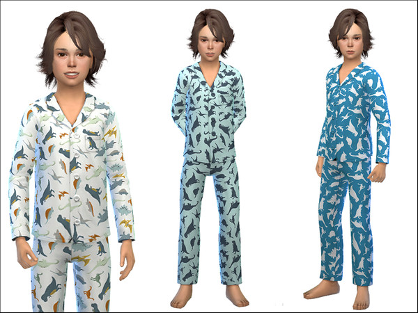 Pajama for Boys 01 by Little Things at TSR image 523 Sims 4 Updates