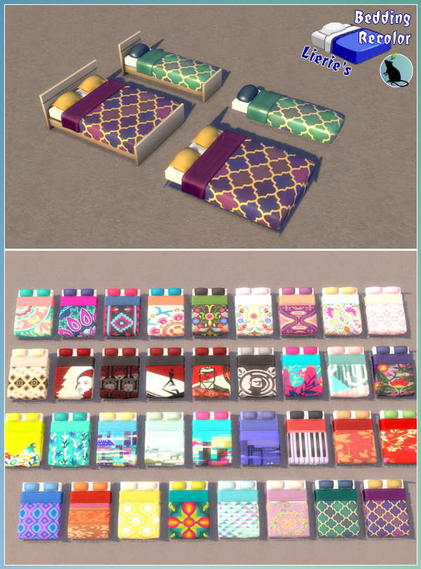 Sims 4 Lierie's Bedding Recolor at Standardheld