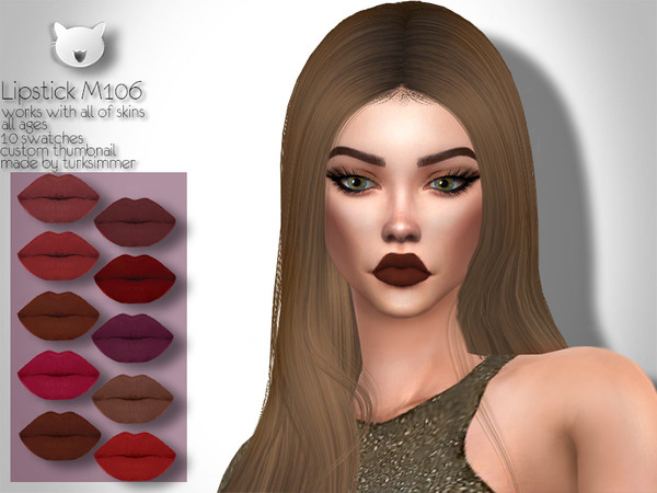 Sims 4 Lipstick M106 by turksimmer at TSR