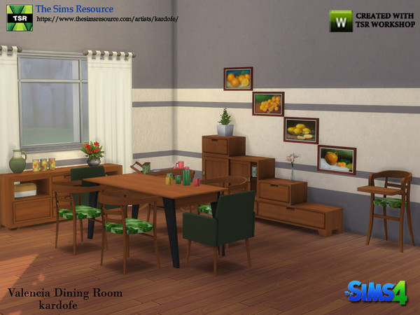Valencia Dining Room by kardofe at TSR image 5414 Sims 4 Updates