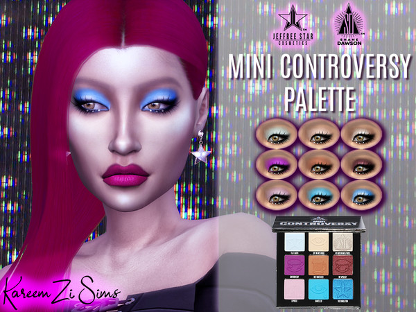 Sims 4 Mini Controversy Palette 9 Shades Matte and Metallic by KareemZiSims at TSR