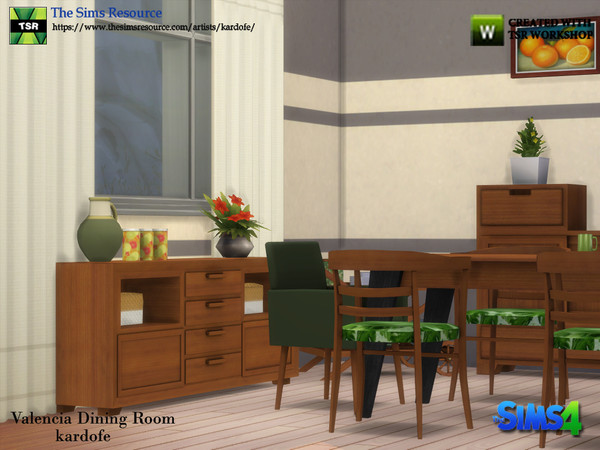 Valencia Dining Room by kardofe at TSR image 5514 Sims 4 Updates