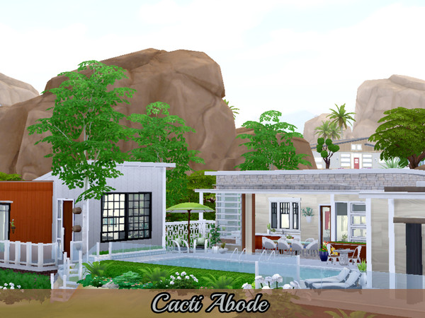 Cacti Abode modern home by Mini Simmer at TSR image 560 Sims 4 Updates