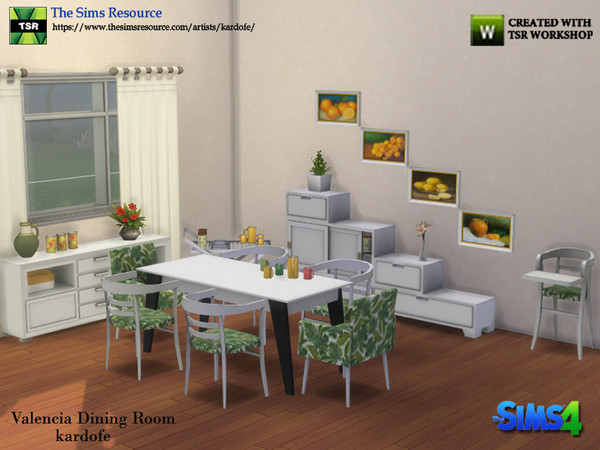 Valencia Dining Room by kardofe at TSR image 5614 Sims 4 Updates