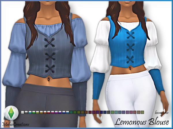 Sims 4 Blouse Lemonous by MahoCreations at TSR