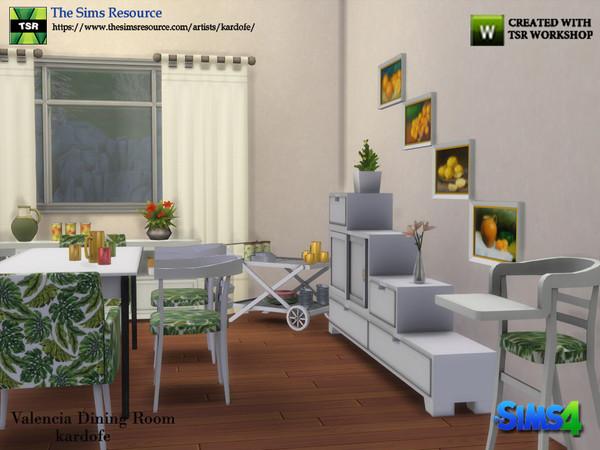 Sims 4 Valencia Dining Room by kardofe at TSR