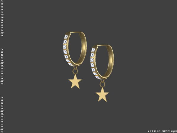 Cosmic Earrings by Christopher067 at TSR image 578 Sims 4 Updates