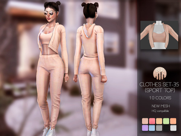Sims 4 Clothes SET 35 (SPORT TOP) BD137 by busra tr at TSR