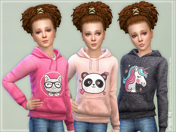 Sims 4 Hoodie for Girls P10 by lillka at TSR