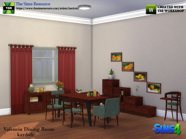 Valencia Dining Room by kardofe at TSR image 5814 Sims 4 Updates
