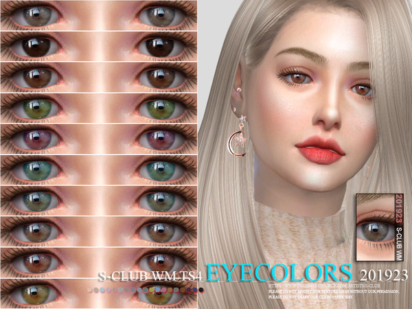 Sims 4 Eyecolors 201923 by S Club WM at TSR