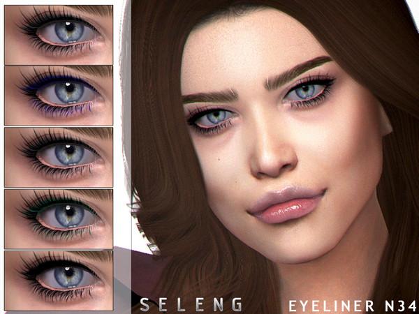 Sims 4 Eyeliner N34 by Seleng at TSR
