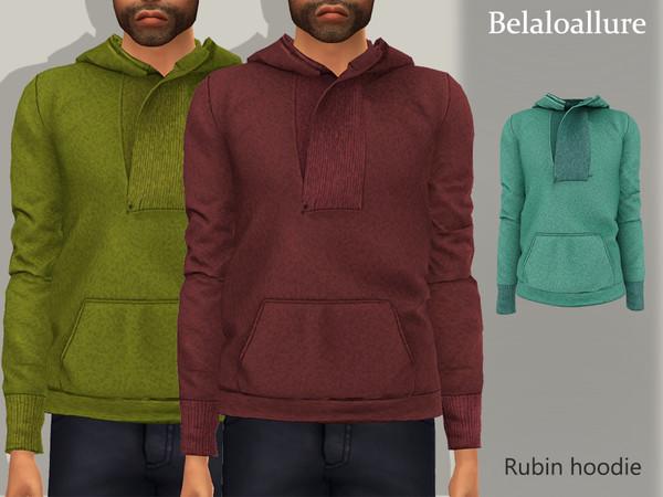 Sims 4 Belaloallure Rubin hoodie by belal1997 at TSR