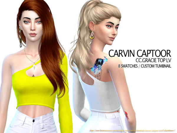Gracie top Lv by carvin captoor at TSR image 6115 Sims 4 Updates