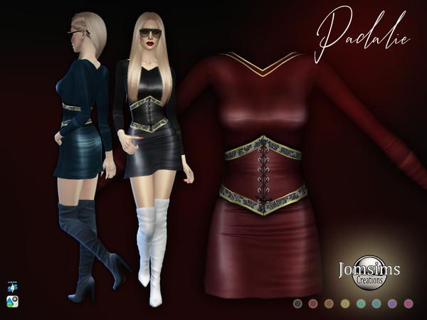 Padalie corset dress by jomsims at TSR image 6211 Sims 4 Updates