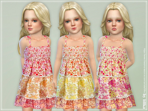 Sims 4 Voile Sundress by lillka at TSR