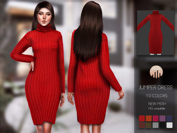 Sims 4 Jumper Dress BD142 by busra tr at TSR