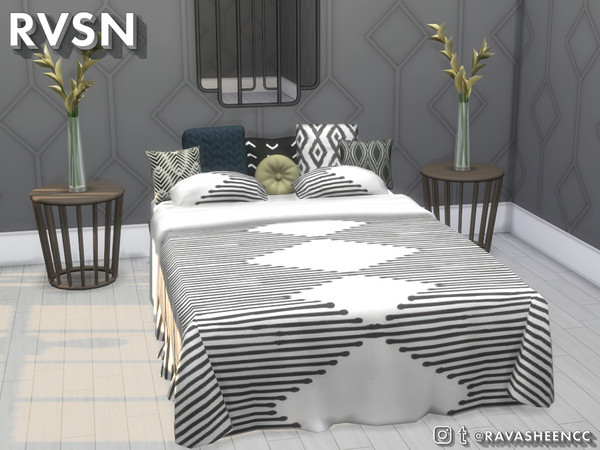 Sims 4 I Woke Up Like This   Double, Single, and Toddler Bed Set by RAVASHEEN at TSR