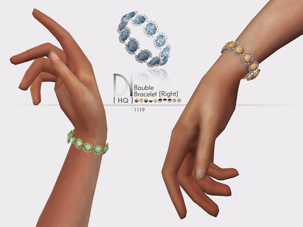 Bauble Bracelet Right by DarkNighTt at TSR image 639 Sims 4 Updates