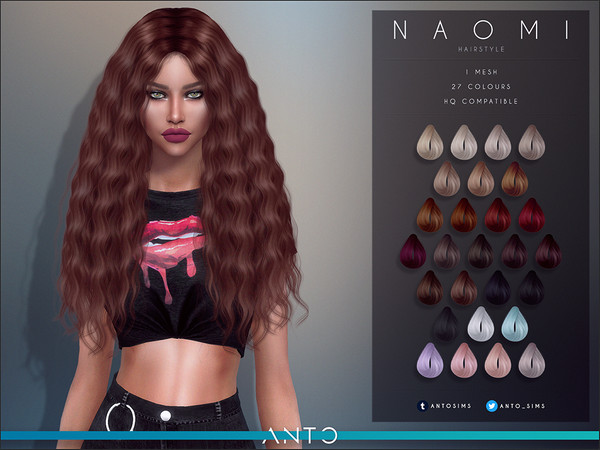 Sims 4 Naomi Hairstyle by Anto at TSR