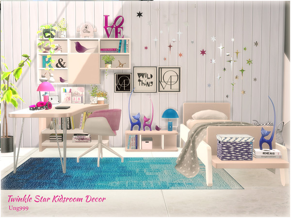 Twinkle Star Kidsroom Decor by ung999 at TSR image 6418 Sims 4 Updates