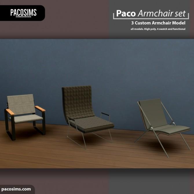 Sims 4 Armchair Set (P) at Paco Sims