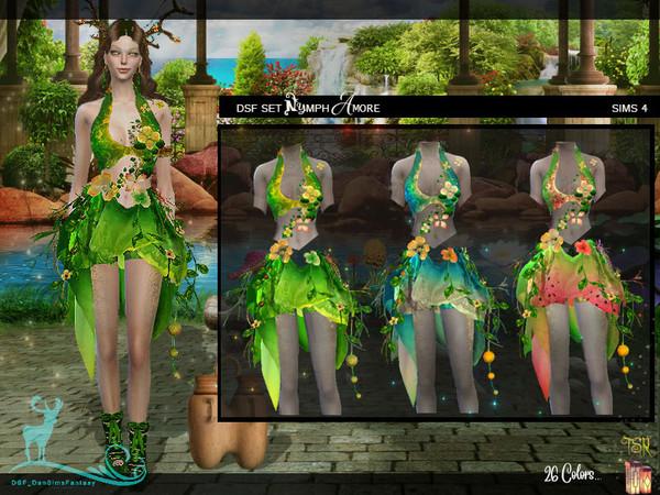 Sims 4 DSF SET NYMPH AMORE by DanSimsFantasy at TSR