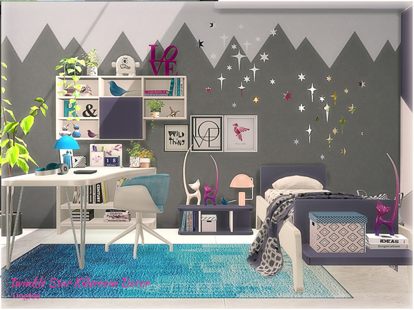 Sims 4 Twinkle Star Kidsroom Decor by ung999 at TSR